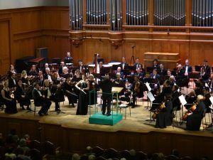 Глиэровцы на сцене Большого зала Московской консерватории